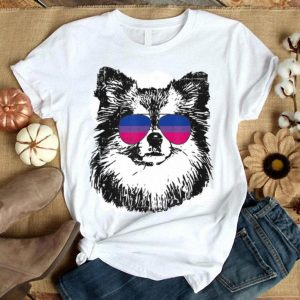 Bisexual Pride Pom Dog LGBT Sunglasses Men Women Shirt