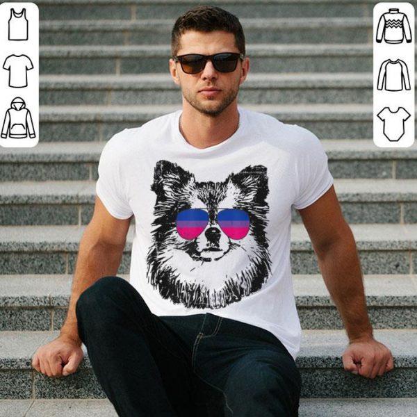 Bisexual Pride Pom Dog LGBT Sunglasses Men Women Shirt