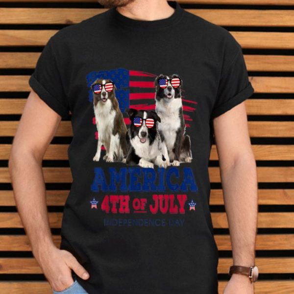 Border Collie America 4th Of July Independence Day shirt