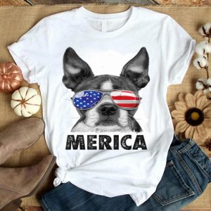 Boston Terrier 4th Of July Merica Men Women Usa Flag Shirt