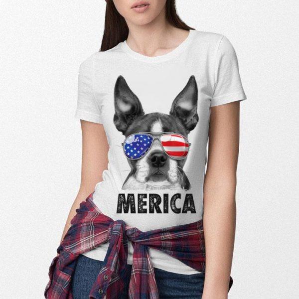 Boston Terrier 4th Of July Merica Men Women Usa Flag Shirt