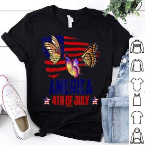 Butterfly Patriotic 4th Of July America Flag shirt