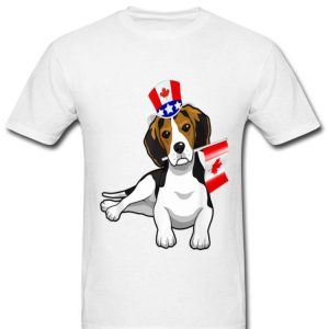 Canada - Maple Leaf Beagle Canadian Flag Shirt