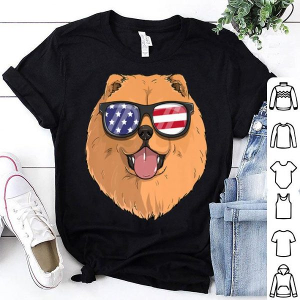Chow Chow Dog Patriotic Usa 4th Of July American Flag shirt