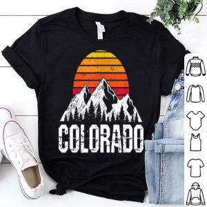 Colorado Vintage Mountain Sun Distressed Summer Holiday shirt