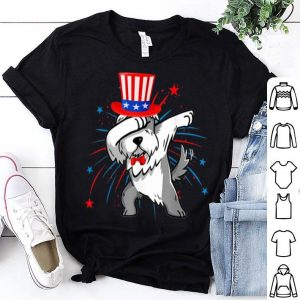 Dabbing Miniature Schnauzer Firework 4th Of July Gift Shirt