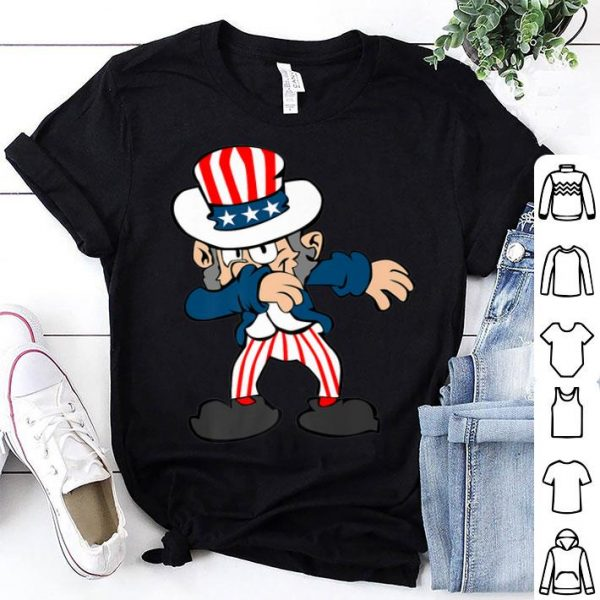 Dabbing Uncle Sam 4th of July American Flag shirt