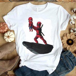 Deadpool Sacrificing Spiderman Cosplay The Lion King shirt