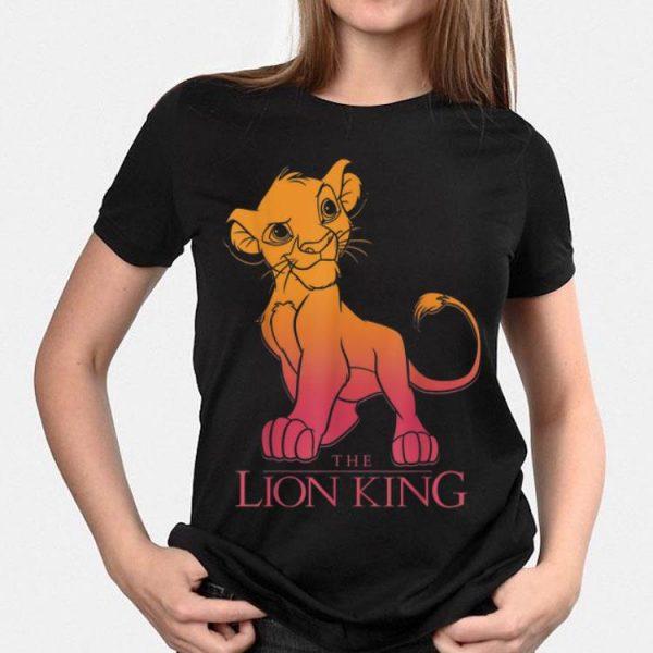 Disney Lion King Young Simba Sunset Gradient shirt