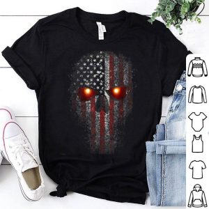 Epic Usa Military American Skull Flag Patriot Glowing Eyes shirt