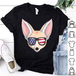 Fennec Fox Patriotic Usa 4th Of July American shirt