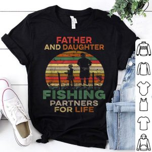 Fisherman Dad And Daughter Fishing Partners Father's Day Shirt