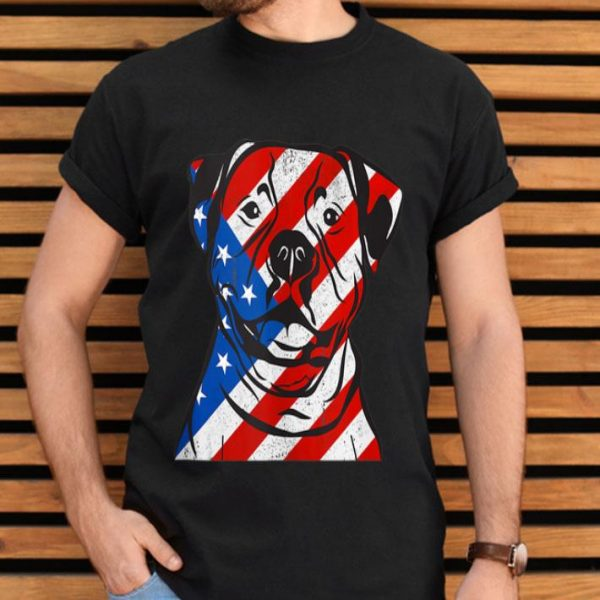Fourth Of July Patriotic Pitbull American Flag shirt