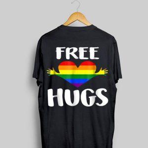 Free Hugs Gay Pride Rainbow Flag Lgbt Heart shirt