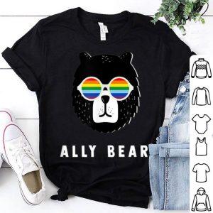 Gay Pride Flag Bear Lgbt Ally Retro shirt