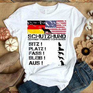 German Shepherd American Flag Tee German Flag Shirt