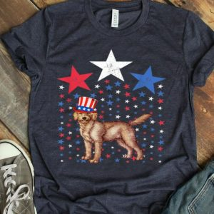 Goldendoodle Breed Dog America Flag Patriot Shirt