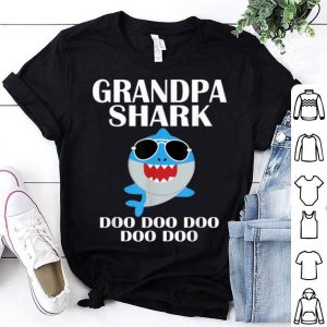 Grandpa Shark Doo Doo Doo Fathers Day shirt