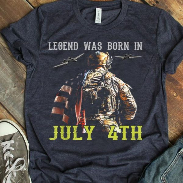Legend Was Born In July 4th Proud Army American Flag shirt
