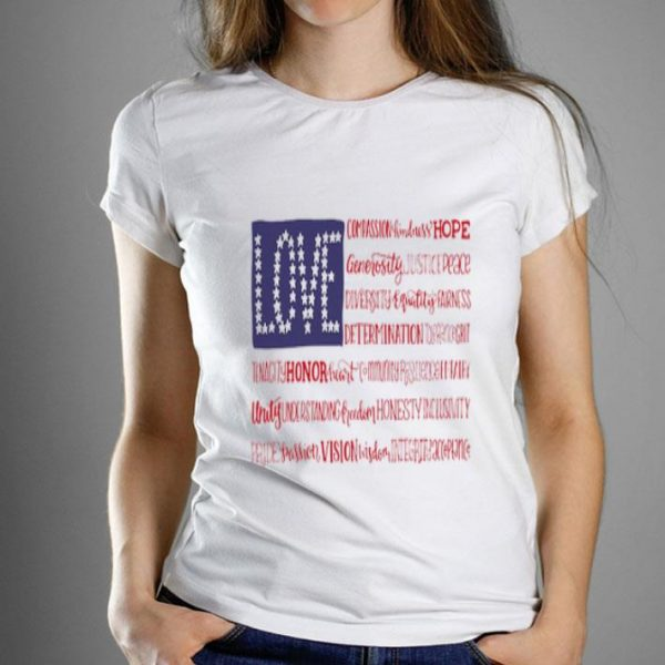 Love American Flag Independence Day shirt