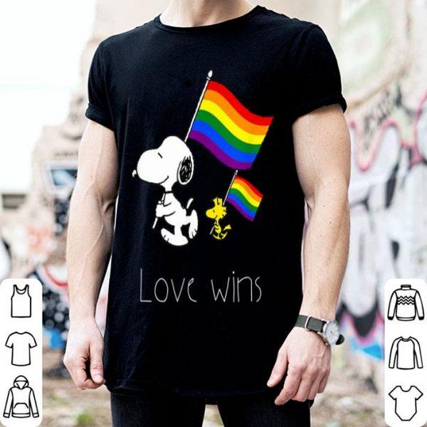 Love Wins LGBT Gay Pride With Rainbow Flag Shirt