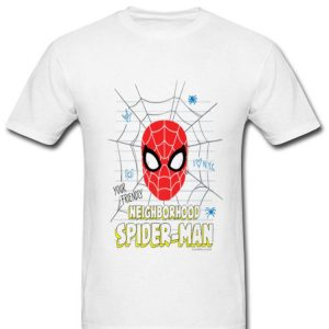 Marvel Spider-man Far From Home Mask Doodle Shirt