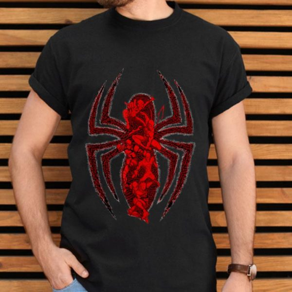 Marvel Ultimate Spider-man Group Logo Leap Graphic Shirt