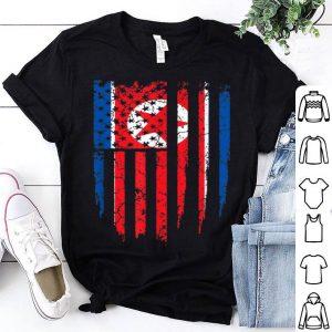 North Korean American North Korea & America Flag shirt