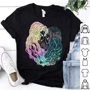 One Love Lesbian Pastel Rainbow Kissing LGBT Rights Pride shirt