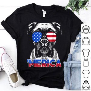 Patriot Boxer Dog 'merica Tee Shirt