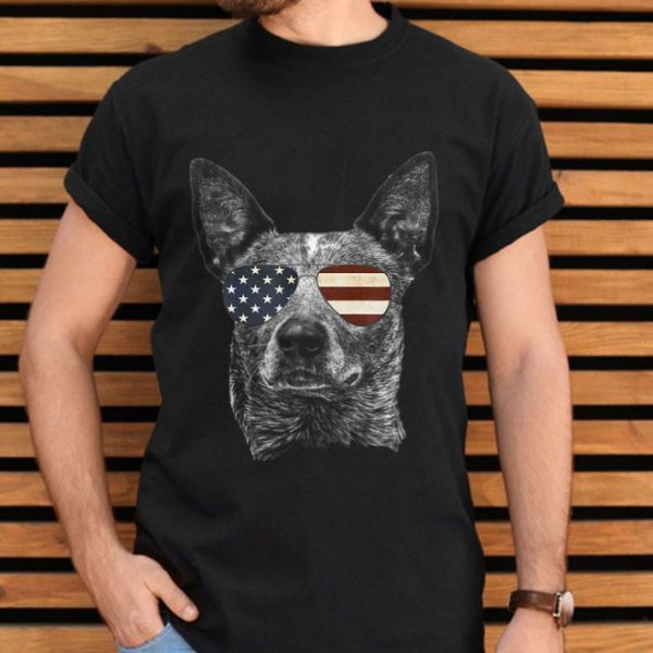 Patriotic Australian Cattle Dog Gift Usa Flag Merica shirt