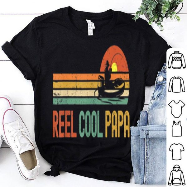Reel Cool Papa - Vintage Fisherman Dad Father's Day Gift Shirt