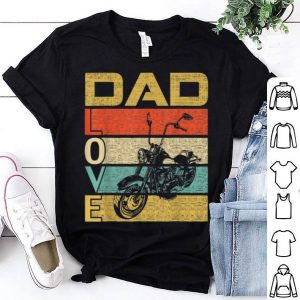 Retro Vintage Dad Love Motorcycle Fathers Day shirt