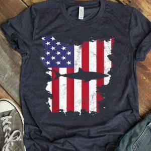 Shark Usa Flag America 4th Of July Murica Gift Vintage shirt