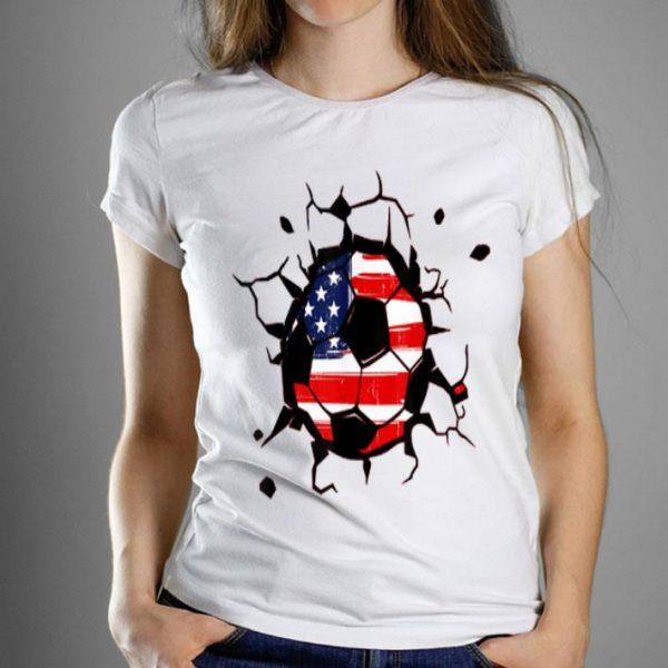 Soccer United States Ball Flag Jersey - Usa Football Shirt