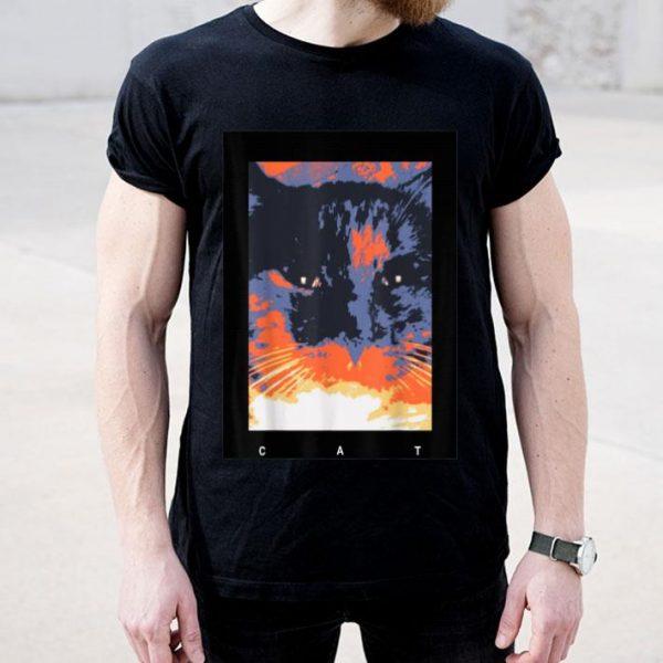 Sunset With A Big Black Cat shirt