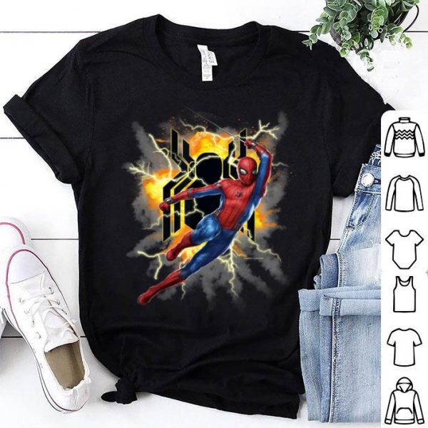 Thunder Spider-man Far From Home Exploding Action Pose Shirt