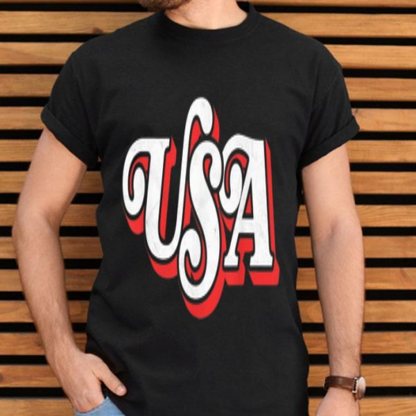Vintage USA Retro Independence Day Patriotic 4th of July shirt
