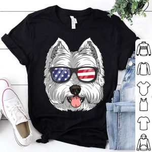 West Highland White Terrier Dog 4th Of July American Westie Usa Flag shirt