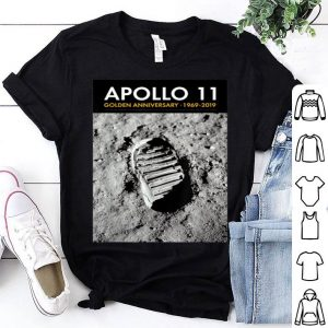 Apollo 11 50th Anniversary Bootprint Boot Print Tee shirt