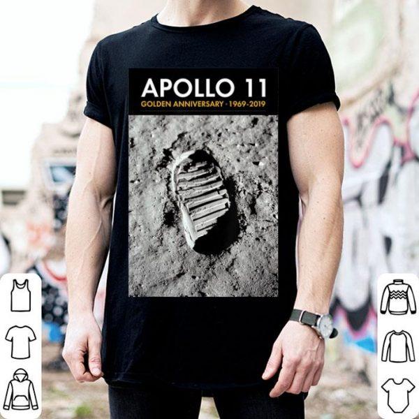 Apollo 11 50th Anniversary Bootprint Boot Print Tee shirt
