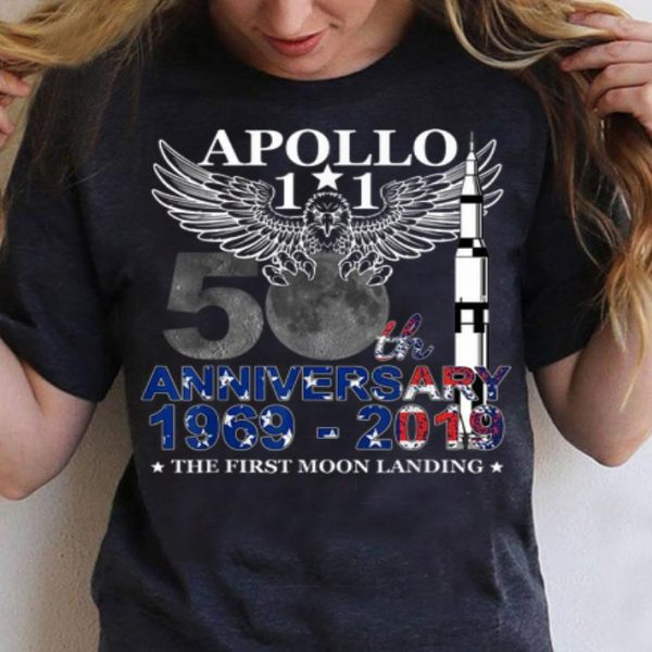 Apollo 11 50th Anniversary Moon Landing 1969-2019 American Proud shirt