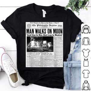 Apollo 11 50th Anniversary Moon Landing 1969 Newspaper shirt