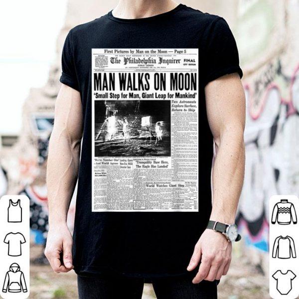 Apollo 11 50th Anniversary Moon Landing 1969 Newspaper shirt