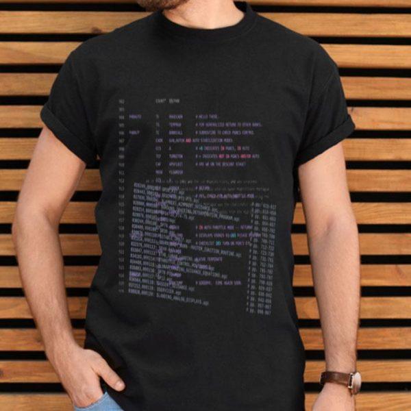 Apollo 11 Guidance Computer Source Code shirt