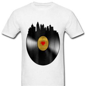 Atlanta Skyline Vinyl Record Music Lover City shirt