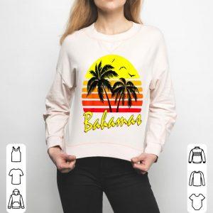 Bahamas 80s Summer Beach Palm Tree Sunset shirt