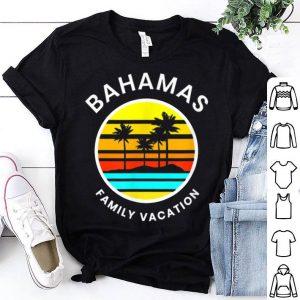 Bahamas Family Vacation Sunset Palm Trees shirt