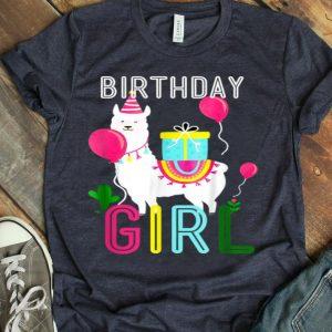 Birthday Girl Llama Cool Alpaca Llama Cactus shirt