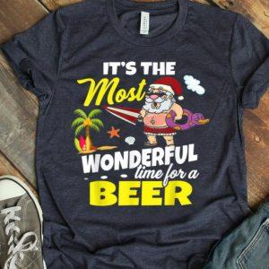 Christmas In July Santa Hawaiian Wonderful Beer shirt